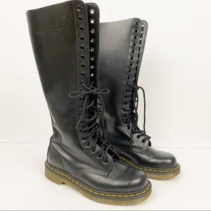 Dr. Martens • Tall Knee Combat Boots
